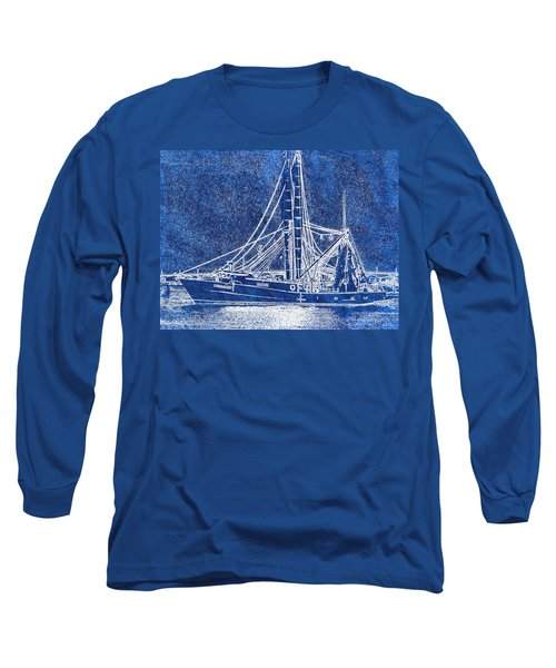 Shrimp Boat - Dock - Coastal Dreaming Long Sleeve T-Shirt by Barry Jones