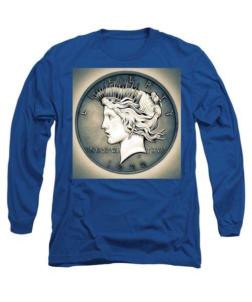 1922 Silver Proof Peace Dollar Long Sleeve T-Shirt
