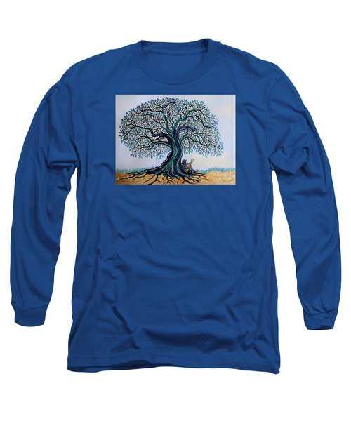 Singing Under The Blues Tree Long Sleeve T-Shirt by Nick Gustafson