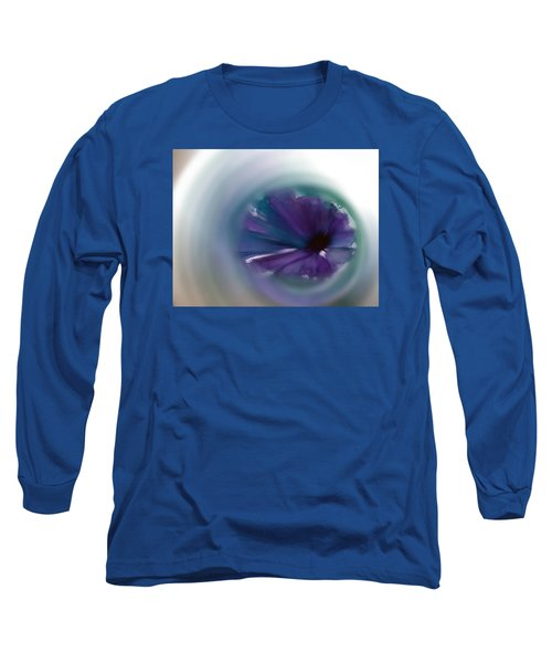 Long Sleeve T-Shirt featuring the mixed media Sinking Into Beauty by Frank Bright