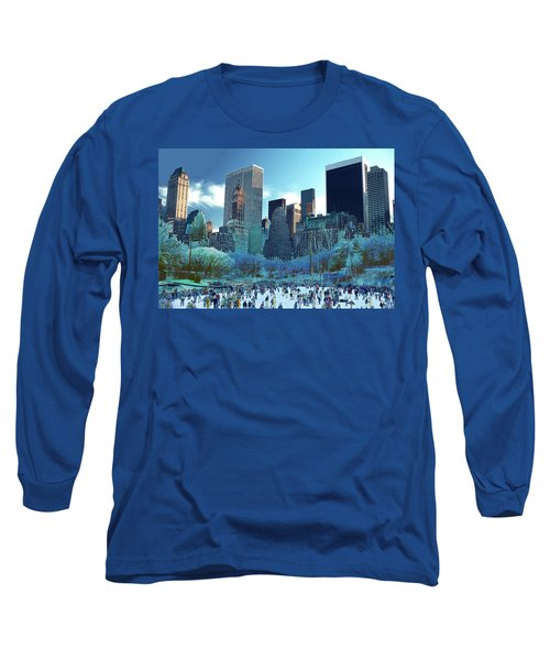 Skating Fantasy Wollman Rink New York City Long Sleeve T-Shirt