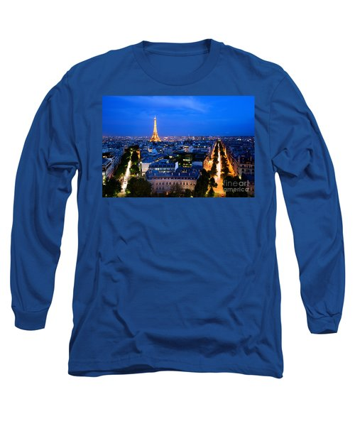 Skyline Of Paris Long Sleeve T-Shirt