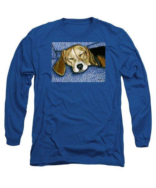 Sleeping Beagle Long Sleeve T-Shirt