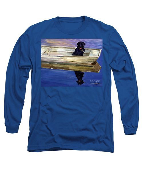Slow Boat Long Sleeve T-Shirt by Molly Poole