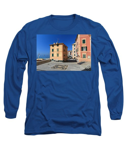 Long Sleeve T-Shirt featuring the photograph small square in Sori by Antonio Scarpi