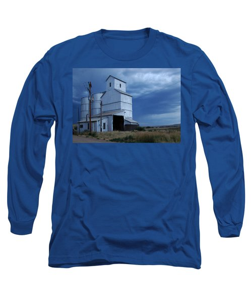 Long Sleeve T-Shirt featuring the photograph Small Town Hot Night Big Storm by Cathy Anderson