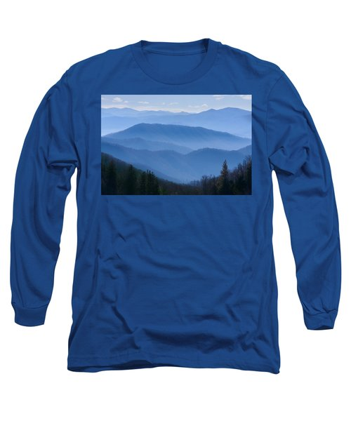 Smoky Mountains Long Sleeve T-Shirt by Melinda Fawver