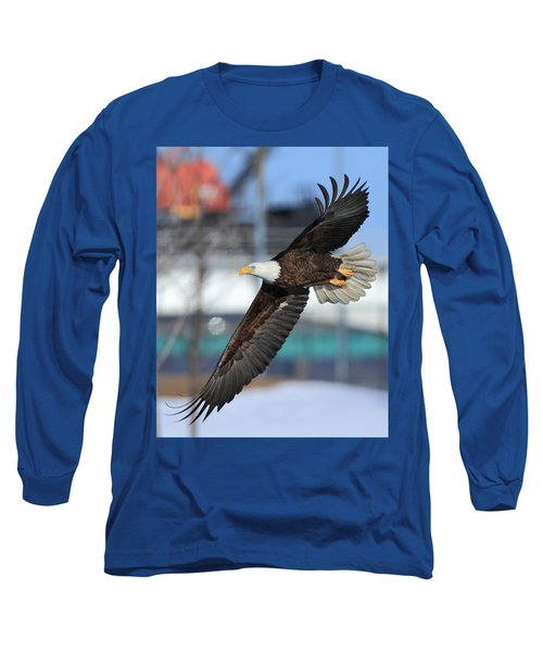 Soaring Eagle Long Sleeve T-Shirt by Coby Cooper