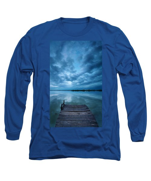 Solitary Pier Long Sleeve T-Shirt by Davorin Mance