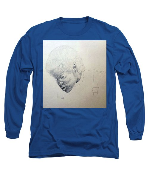 Long Sleeve T-Shirt featuring the drawing Sorrow by Richard Faulkner