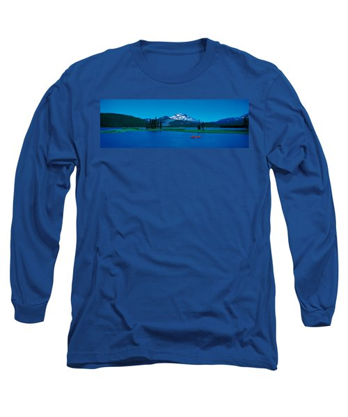 South Sister Canoeing Sparks Lake Or Usa Long Sleeve T-Shirt