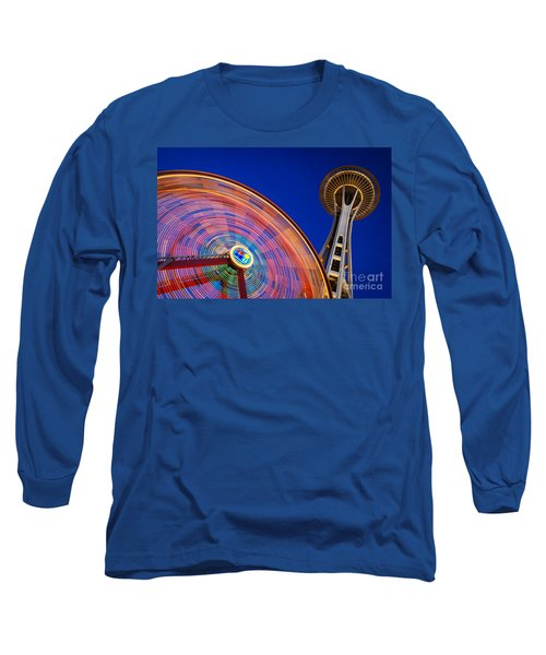 Space Needle And Wheel Long Sleeve T-Shirt