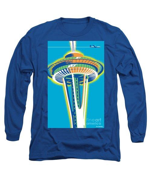 Space Needle Pop Art Long Sleeve T-Shirt