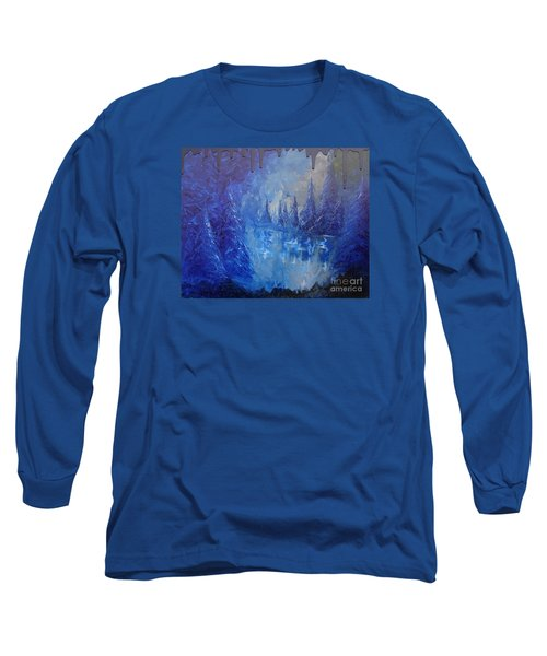 Long Sleeve T-Shirt featuring the painting Spirit Pond by Jacqueline Athmann