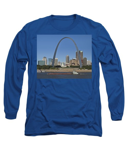 St Louis Skyline Long Sleeve T-Shirt by Garry McMichael