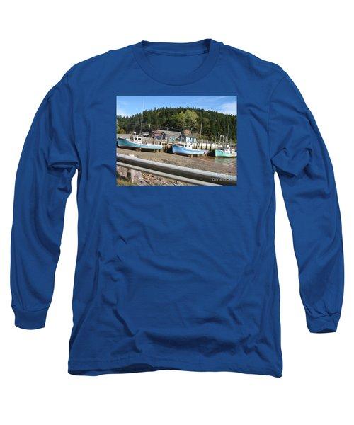 St-martin's Fishing Fleet Long Sleeve T-Shirt by Francine Heykoop