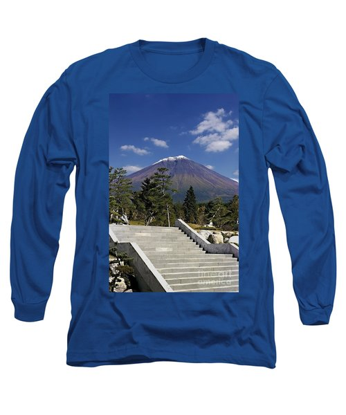 Long Sleeve T-Shirt featuring the photograph Stairway To Mt Fuji by Ellen Cotton