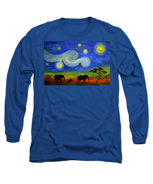 Starry Night Over Africa Long Sleeve T-Shirt
