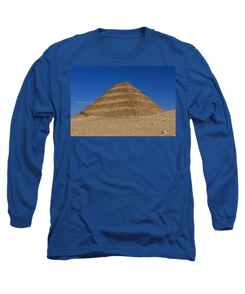 Step Pyramid Of King Djoser At Saqqara  Long Sleeve T-Shirt