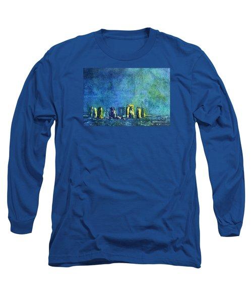 Stonehenge In Moonlight Long Sleeve T-Shirt