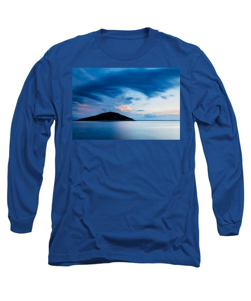 Storm Moving In Over Veli Osir Island At Sunrise Long Sleeve T-Shirt