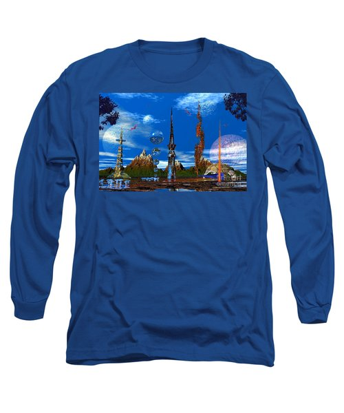 Strange Planet Long Sleeve T-Shirt by Mark Blauhoefer