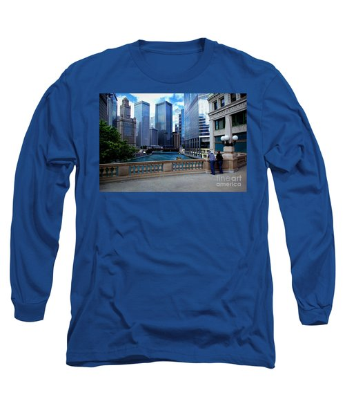Summer Breeze On The Chicago River - Color Long Sleeve T-Shirt