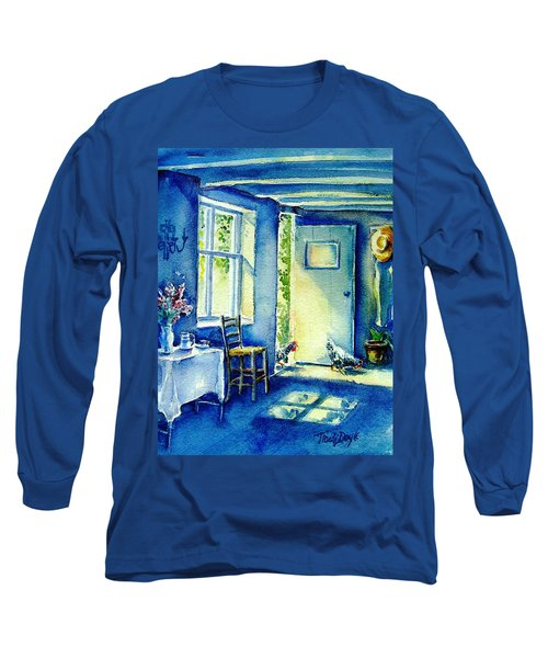Summer Morning Visitors  Long Sleeve T-Shirt by Trudi Doyle