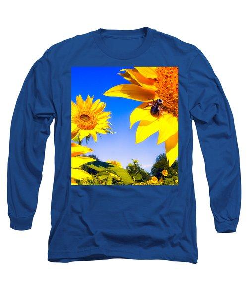 Summertime Sunflowers Long Sleeve T-Shirt