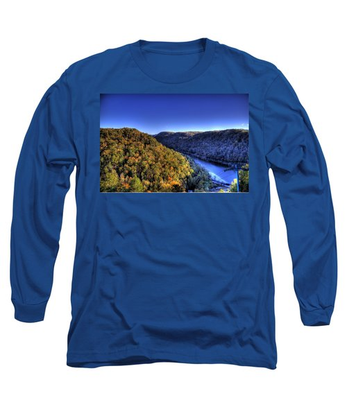 Sun Setting On Fall Hills Long Sleeve T-Shirt by Jonny D