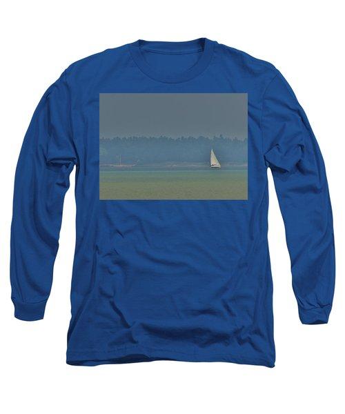 Sunday Sailing  Long Sleeve T-Shirt by Daniel Thompson