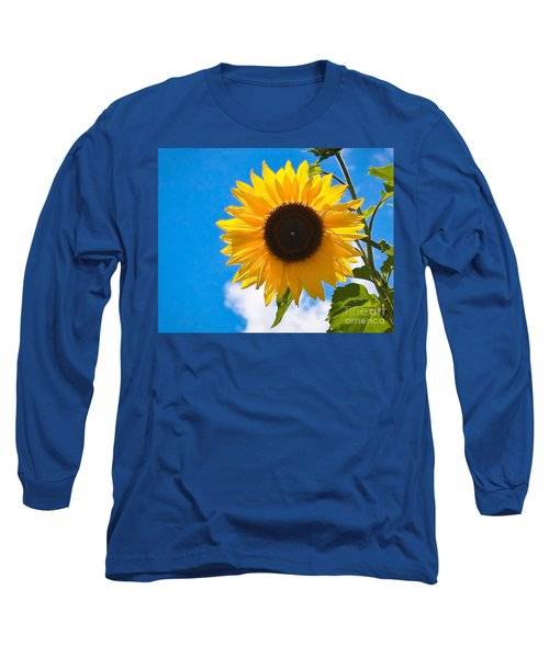 Sunflower And Bee At Work Long Sleeve T-Shirt