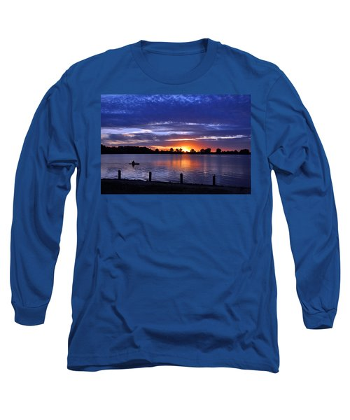 Sunset At Creve Coeur Park Long Sleeve T-Shirt