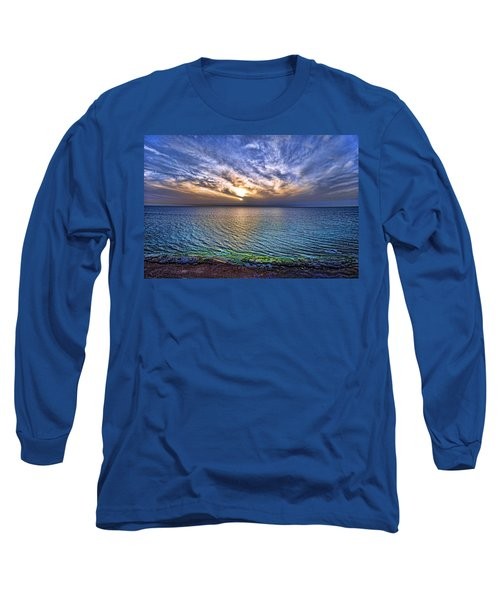 Sunset At The Cliff Beach Long Sleeve T-Shirt