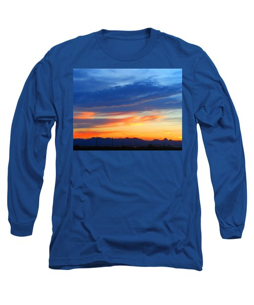 Sunset In The Black Mountains Long Sleeve T-Shirt
