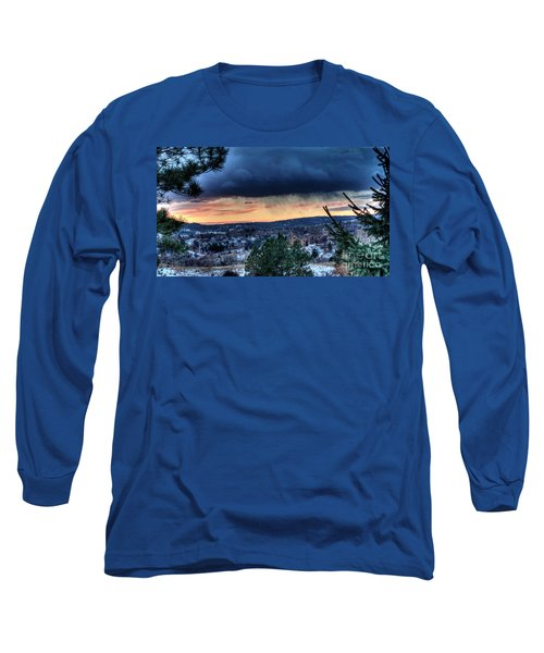 Sunset Over Hot Springs Long Sleeve T-Shirt