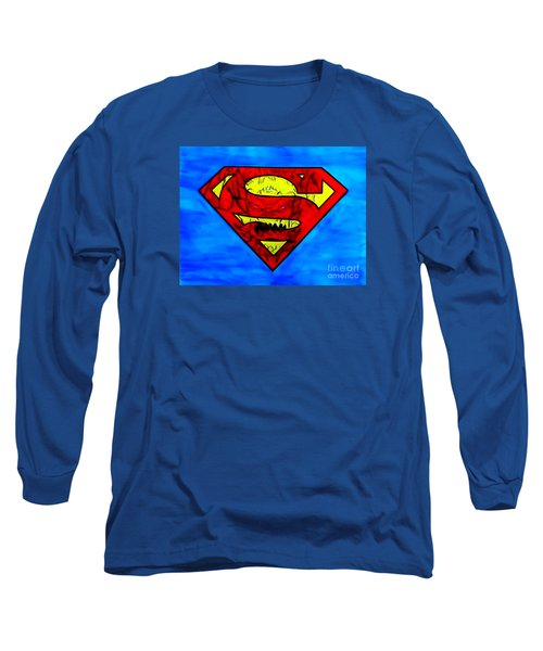 Superman And Doomsday R Y D Long Sleeve T-Shirt by Justin Moore