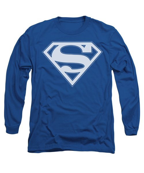 Superman - Blue And White Shield Long Sleeve T-Shirt