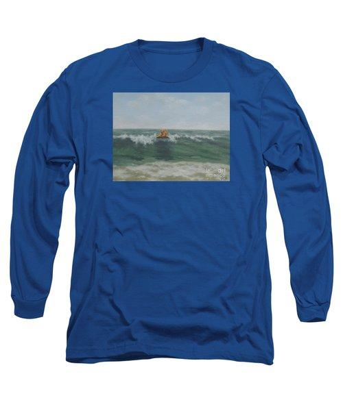 Surfing Golden Long Sleeve T-Shirt