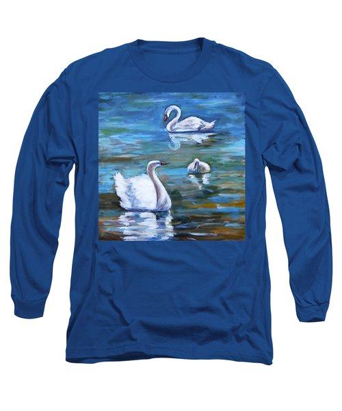 Swans Long Sleeve T-Shirt by Alexandra Maria Ethlyn Cheshire