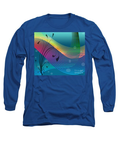 Long Sleeve T-Shirt featuring the digital art Sweet Dreams Abstract by Megan Dirsa-DuBois
