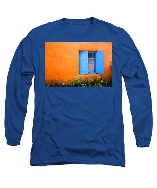 Long Sleeve T-Shirt featuring the photograph Taos Window IIi by Lanita Williams