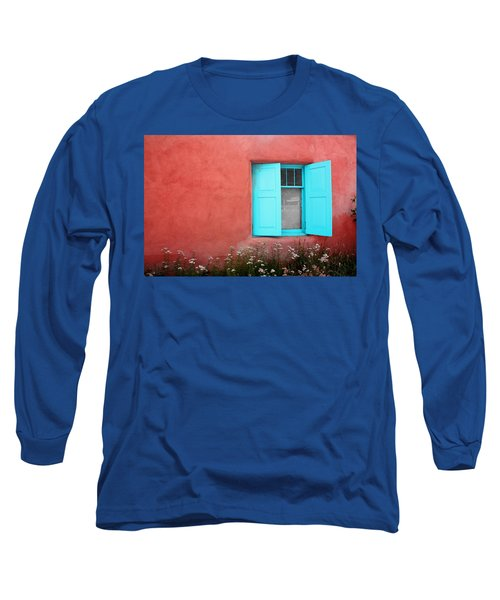 Long Sleeve T-Shirt featuring the photograph Taos Window Iv by Lanita Williams