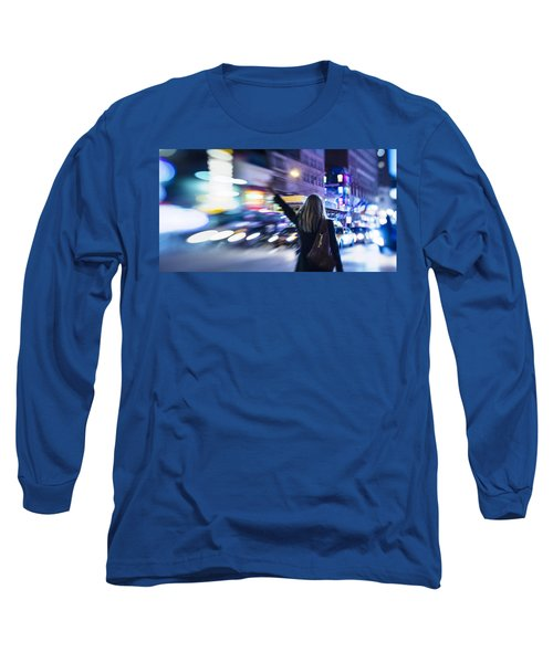 Taxi's Hunting In Manhattan Long Sleeve T-Shirt