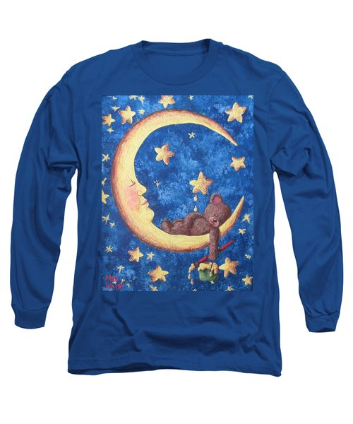 Teddy Bear Dreams Long Sleeve T-Shirt by Megan Walsh