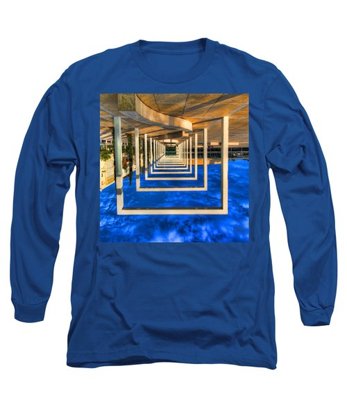 Long Sleeve T-Shirt featuring the photograph Tel Aviv Jump by Ron Shoshani