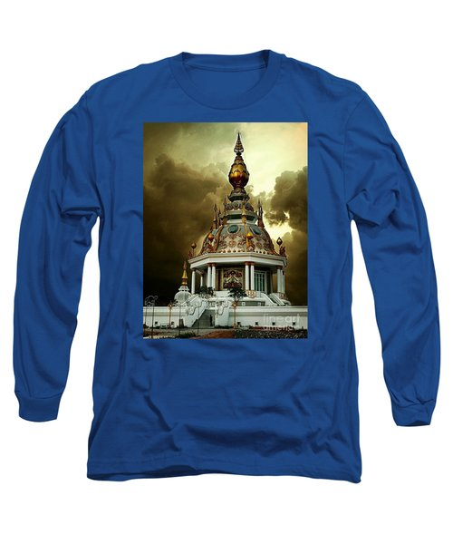 Temple Of Clouds  Long Sleeve T-Shirt by Ian Gledhill