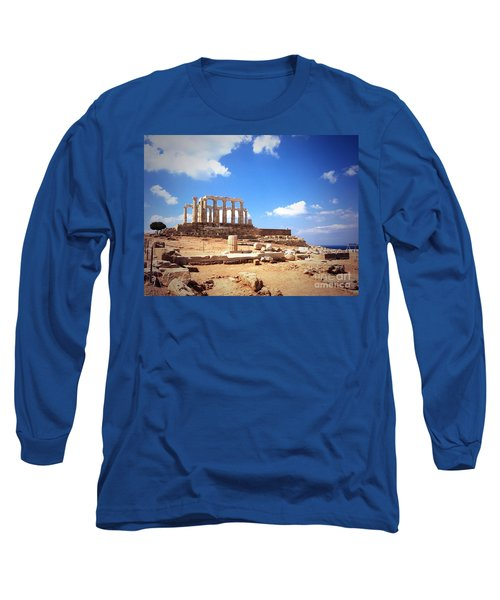Temple Of Poseidon Vignette Long Sleeve T-Shirt