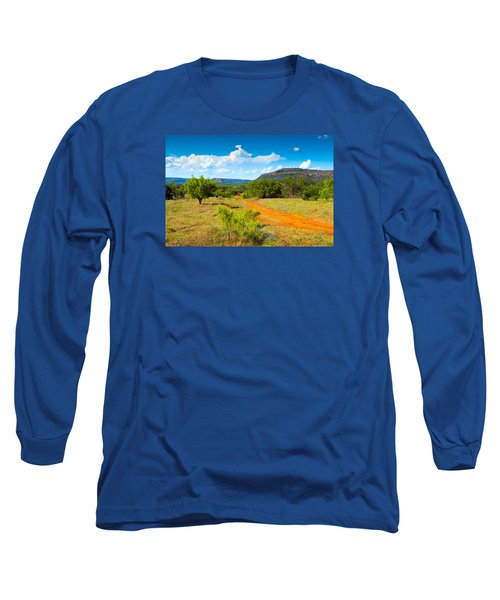 Texas Hill Country Red Dirt Road Long Sleeve T-Shirt by Darryl Dalton