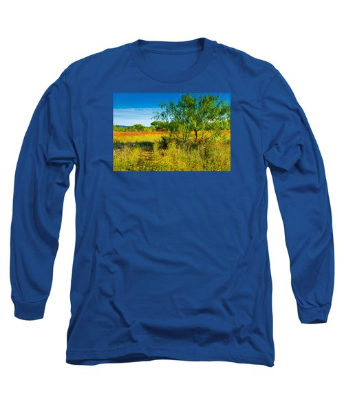 Texas Hill Country Wildflowers Long Sleeve T-Shirt by Darryl Dalton